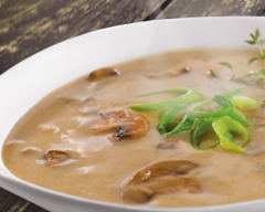 Sauteed Mushroom and Onion Bisque