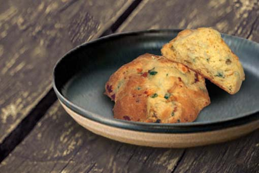 Cheddar-Green Onion Tea Biscuit